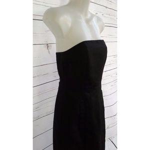 J. Crew Black Strapless Knee Length DressSize 0